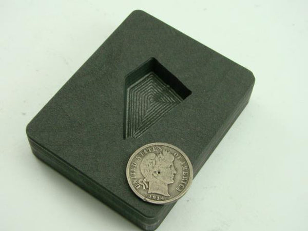 Small Nevada Gold Bar 2 oz Graphite Mold Silver 1 oz