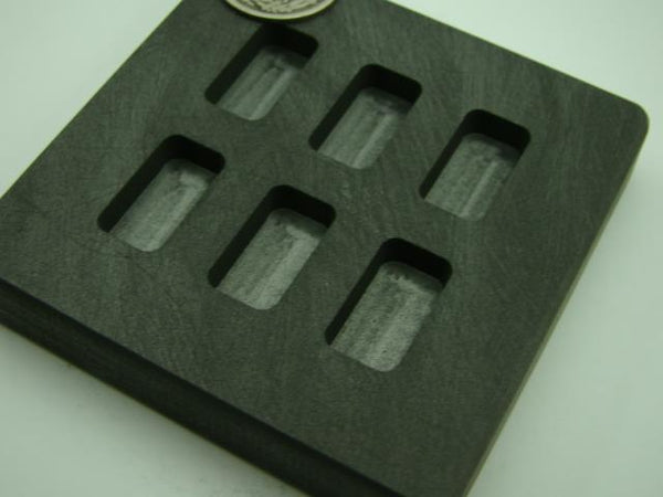 1/4 oz x 6 High Density Graphite Mold 1/4oz Gold Bar 1/8 oz Silver 6-Cavities