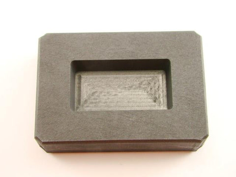 4 oz Gold Bar High Density Graphite Mold 2.5 oz Silver Loaf Scrap Copper