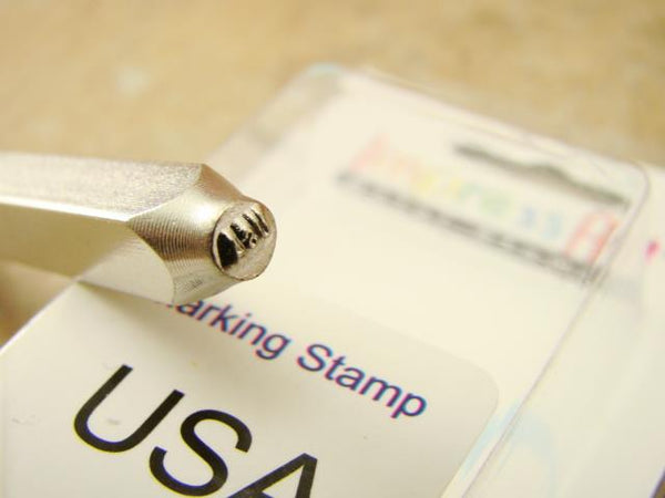 """USA"" United States 1.5mm-Stamp-Metal-Hardened Steel-Gold & Silver Bars Rings"