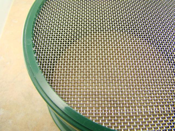 Stackable Plastic Sieve / Screen Kit 4 screens Classifying 10-20-30-40 Mesh-Gold