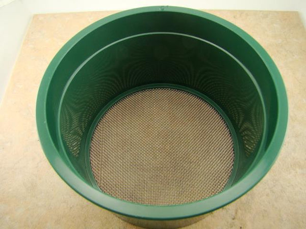 Stackable Plastic Sieve / Screen Kit 4 screens Classifying 10-20-30-50 Mesh-Gold