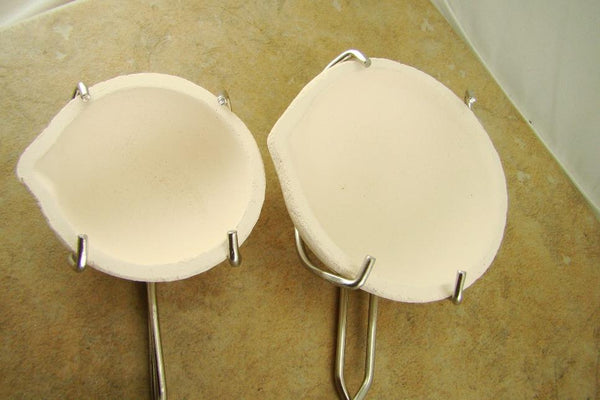 Set of 2 Large & Small Wire Whisk Tong Set - Gold Recovery-Melting-Silver Bars