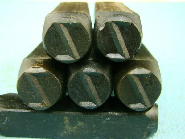 "Lot of 5 - 1/2"" Letter ""Z"" Stamps-Punch-Hand-Tool-Gold Bar-Silver-Trailer-Metal"