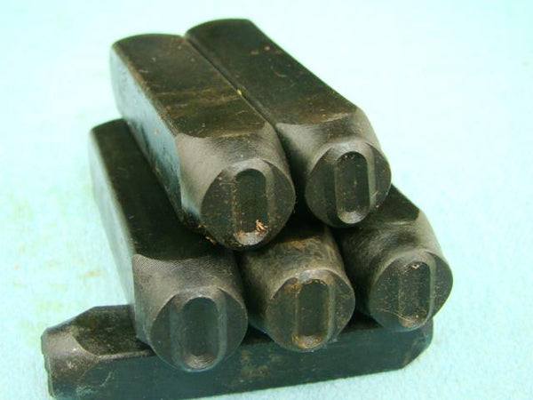 "Lot of 5 - 1/2"" Letter ""O"" Stamps-Punch-Hand-Tool-Gold Bar-Silver-Trailer-Metal"