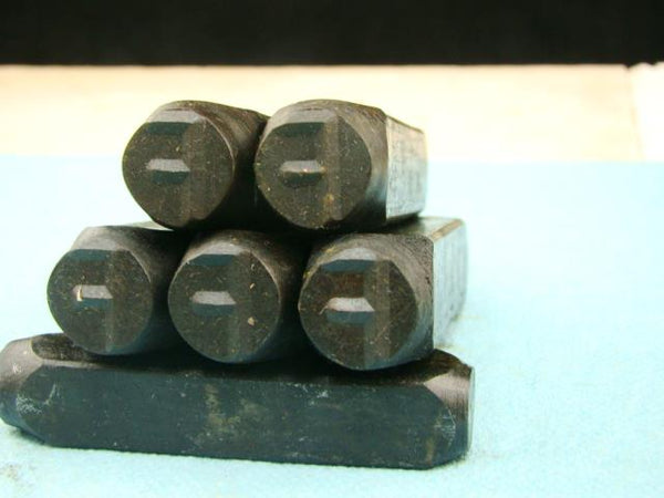 "Lot of 5 - 1/2"" Letter ""F"" Stamps-Punch-Hand-Tool-Gold Bar-Silver-Trailer-Metal"