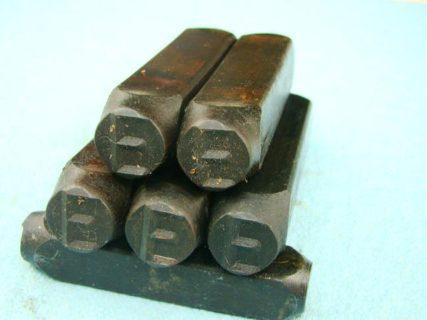 "Lot of 5 - 1/2"" Letter ""E"" Stamps-Punch-Hand-Tool-Gold Bar-Silver-Trailer-Metal"