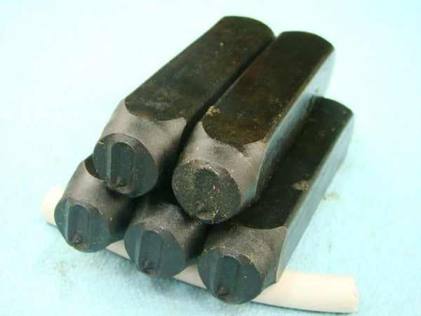 "Lot of 5 - 1/2"" Letter ""Q"" Stamps-Punch-Hand-Tool-Gold Bar-Silver-Trailer-Metal"