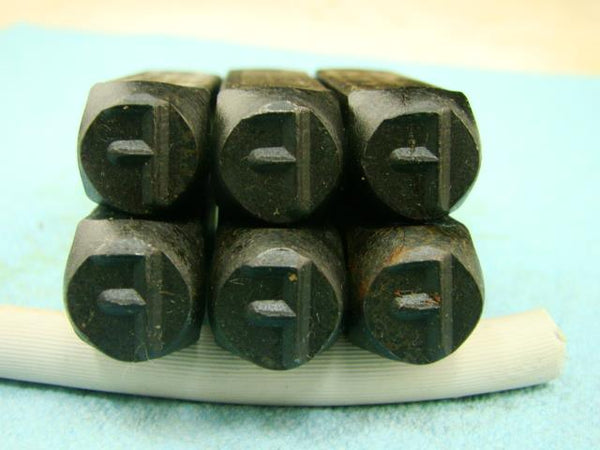 "Lot of 6 - 3/8"" Letter ""F"" Stamps-Punch-Hand-Tool-Gold Bar-Silver-Trailer-Metal"