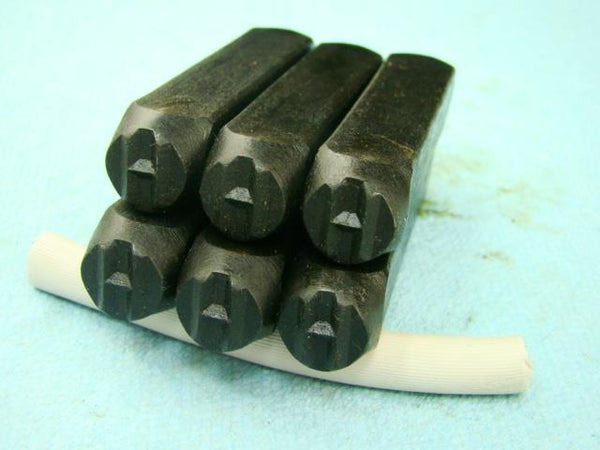 "Lot of 6 - 3/8"" Letter ""H"" Stamps-Punch-Hand-Tool-Gold Bar-Silver-Trailer-Metal"