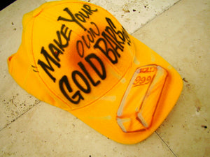 Make Your Own Gold Bars Hat - Yellow Custom Painted