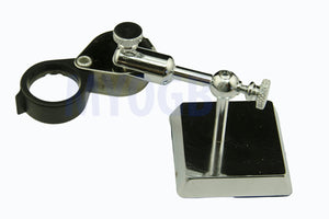 Heavy Duty Loupe Stand - Chrome Plated-Adjustable-Tweezers-Soldering-Inspection