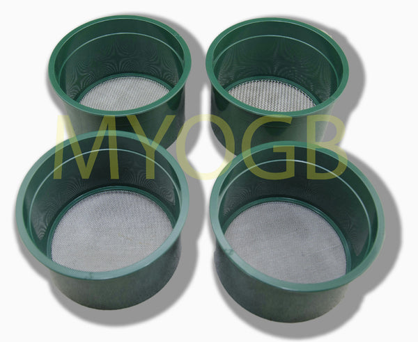 Stackable Plastic Sieve / Screen Kit 4 screens Classifying 10-20-40-60 Mesh-Gold