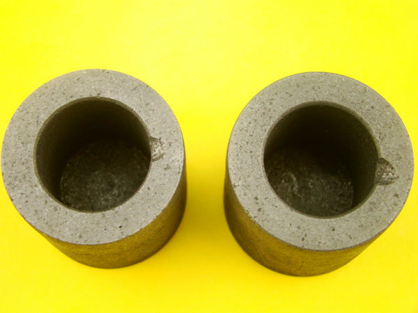"Lot of 2 Graphite 6 oz Crucibles for Mini Propane Furnace-1-1/2"" W x 1-1/2"" Tall"