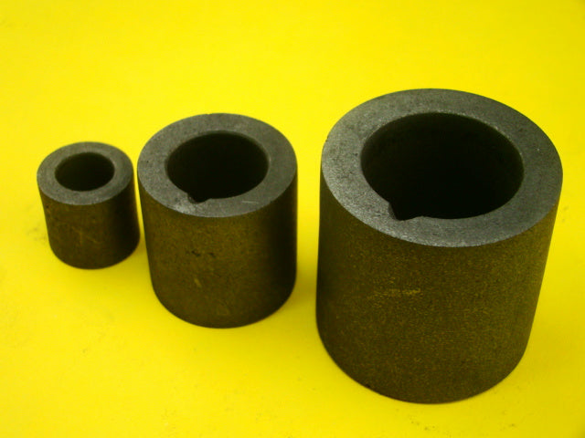 Lot of 3 Graphite 1 oz - 6 oz - 20 oz Crucibles for Melting Gold-Silver-Copper