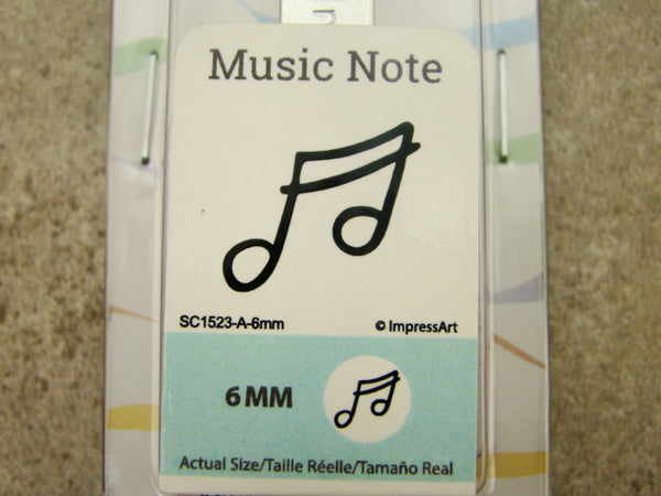 """Music Note"" Tune 1/4""-6mm-Large Stamp-Metal-Hardened Steel-Gold & Silver Bar"