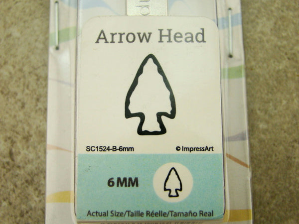 """Arrow Head"" Indian 1/4""-6mm-Large Stamp-Metal-Hardened Steel-Gold & Silver Bar"