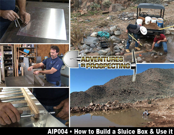"""How to Build a Sluice Box & Use it"" Prospecting Instructional DVD Mining"