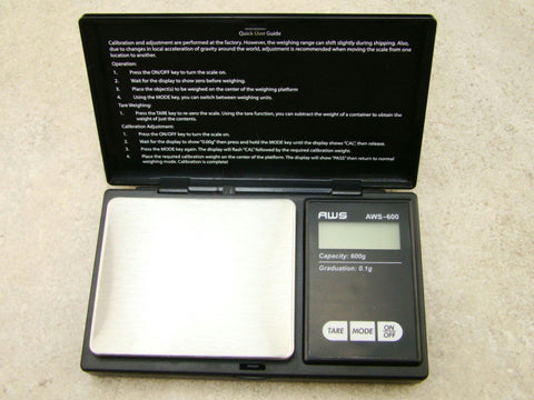 Digital Pocket Scale-Gold-Silver-Gram-Grain-CT-OZ-0.1 Gram Black-AAA-AWS 600G