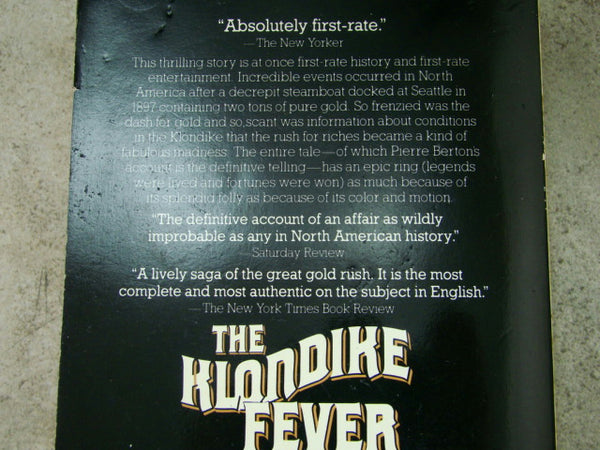 """The Klondike Fever"" by Pierre Berton, Paperback, Gold Rush, Mining #2"