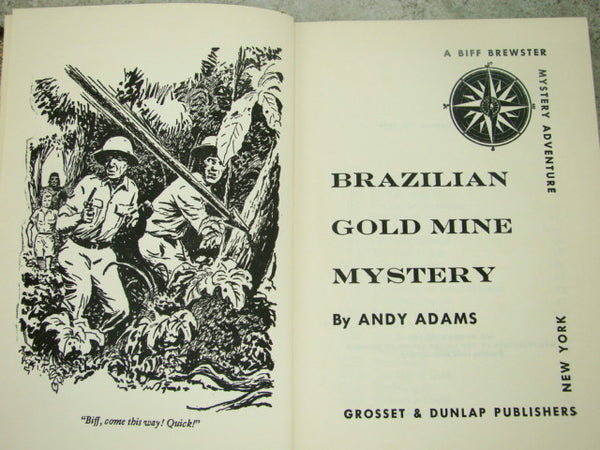 """Brazilian Gold Mine Mystery"" by Andy Adams, Biff Brewster, Hardcover"