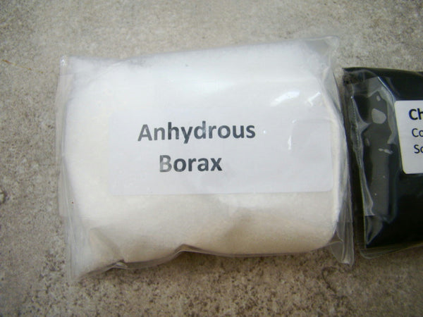 4oz Hank Chapman Recipe Flux & 4oz Anhydrous Borax Gold-Silver Recovery Smelting