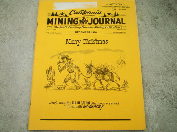 California Mining Journal December 1980 - Merry Christmas Issue