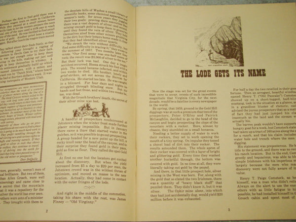 """Virginia City The Way it Was! Then, Now"" 1979, Soft Back Book"