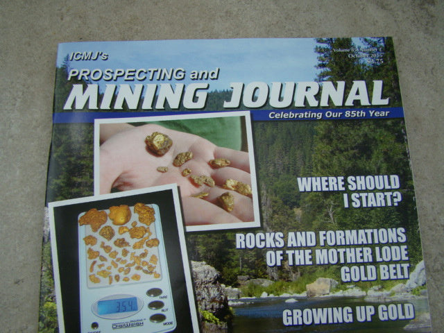 ICMJ's Prospecting & Mining Journal Magazine October2015 Big Nuggets Chris Ralph