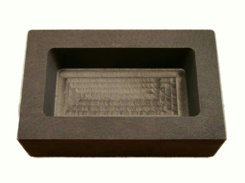 1 Kilo Gold Graphite Ingot Mold 1/2 Kilo Silver Bar-Loaf - 1000 Gram Gold Bar