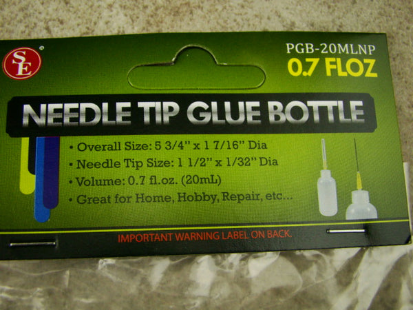 0.7 FL oz Needle Tip Glue Bottle, Great for Crafting, Hobbies, Repair