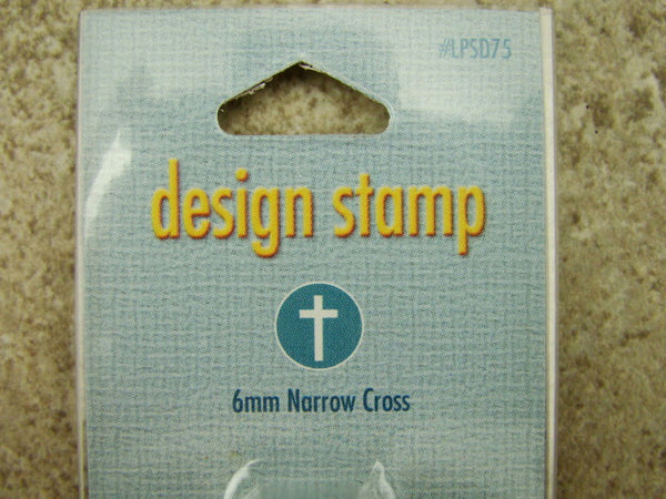 """Narrow Cross"" Stamp -6mm-Large Stamp-Metal-Hardened Steel-Gold & Silver Bar"