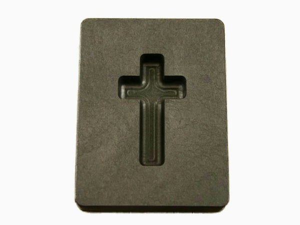 1 oz Custom Cross Gold High Density Graphite Mold Silver Necklace 1-7/16""