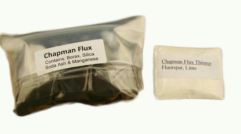 Hank Chapman Jr Flux & Thinner Combo-Refine Gold-Silver-Jewlery-Smelting-Assay