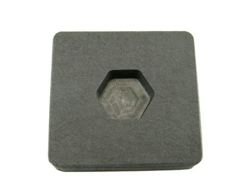 1/2 oz Gold 1/4 oz Silver Bar High Density Graphite Hexagon Mold -Copper-Custom