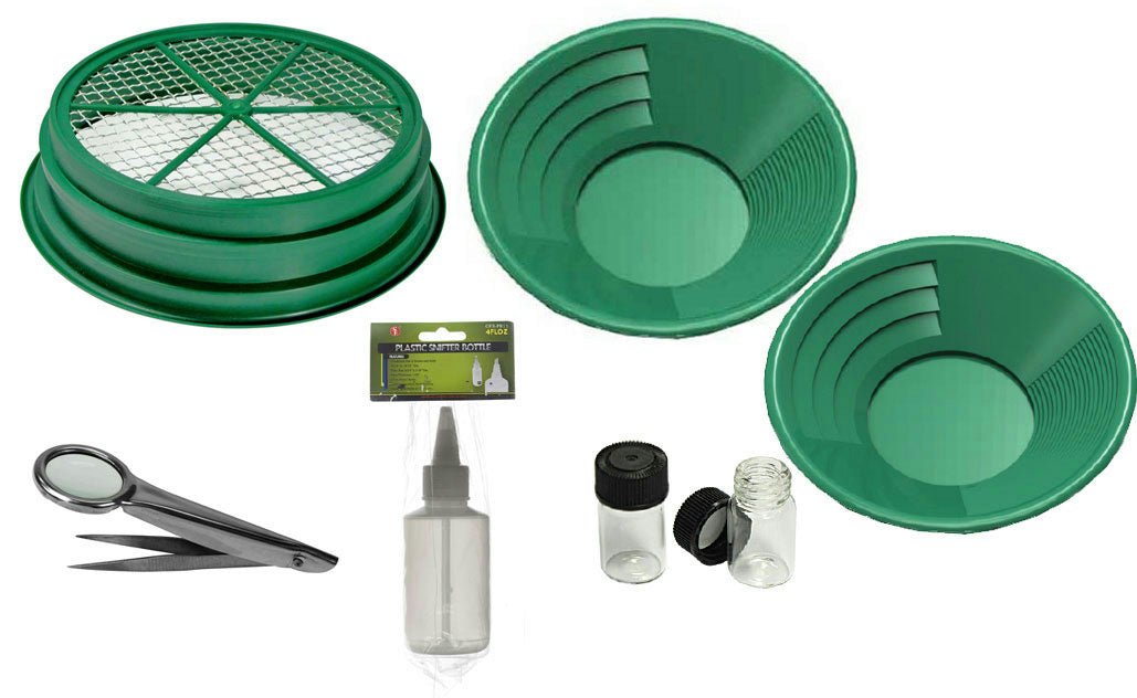 7 pc Prospecting-Mining-Panning Kit- Classifier & 2 Gold Pans,+ MORE!!