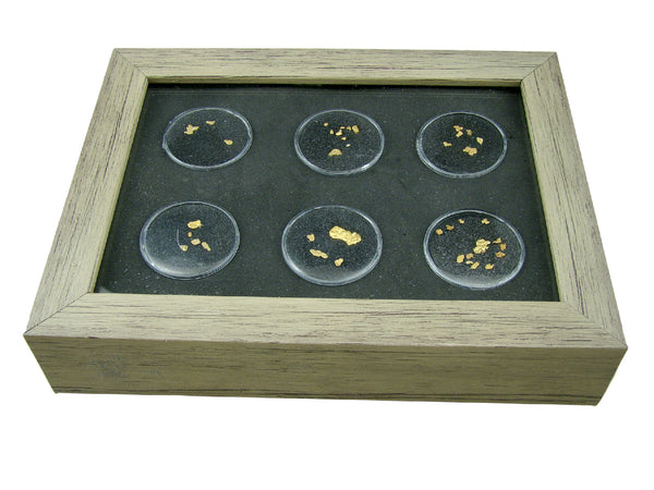 Wood Framed Gold Nugget Display Box - Gems-Opals-Artifacts-Coins