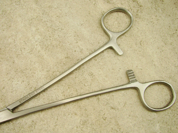 "Big 10"" Straight Forceps-Tong-Crucible-Gold-Silver-Melting-Plier-Stainless Steel"