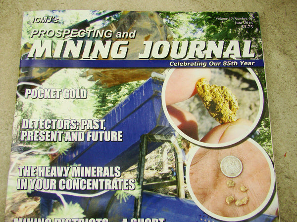 ICMJ's Prospecting & Mining Journal Magazine June 2016, Detectors: Past, Present