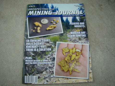 ICMJ's Prospecting & Mining Journal Magazine September 2016, GOLD!!! Chris Ralph