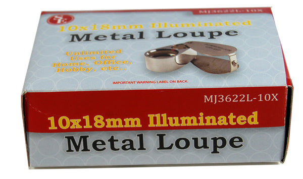 Jewelers Loupe 10X Lens Nuggets Sluice Gems LED Lighted Diamonds Minerals Gold
