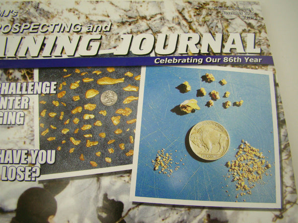 ICMJ's Prospecting & Mining Journal Magazine November 2016, GOLD!!! Chris Ralph