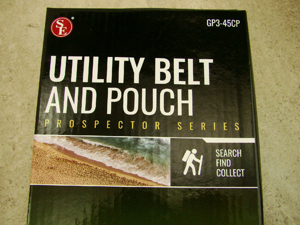 Utility Belt and Pouch, Nylon, Carabiners, Pockets, Zippered Pouch, Heavy Duty