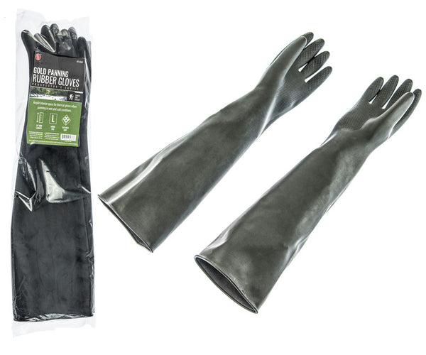 "23"" Gold Panning Rubber Gloves - 1 pair - w/Textured Grip - Cold River Clean ups"