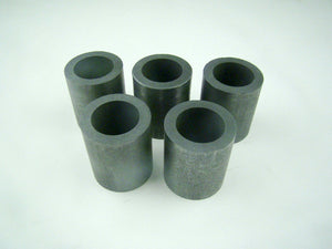 "5 Graphite 6 oz Crucibles Mini Propane Fast Furnace Melting Gold 1-1/2""x1-3/4"""