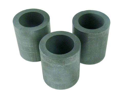 Lot of 3 Graphite 10 oz Crucibles for  Mini Fast Furnace - Melting Gold-Silver-