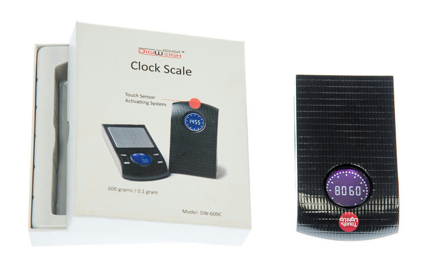 "Digital Pocket Clock Scale 600g/0.1g  oz, dwt, ozt ,3'x5""x.8"""