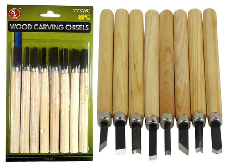 8 pc  Wood Carving Chisels - Crevice Tool - Wax - Clay - Hobby