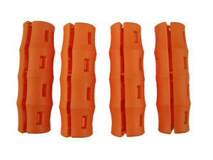 4 pc Orange SNAPPY GRIP - Bucket Handles -Mining-Farming-Gardening-Painting