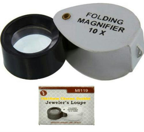 Jewelers Loupe 10X Lens Nuggets Sluice Gems Minerals Gold